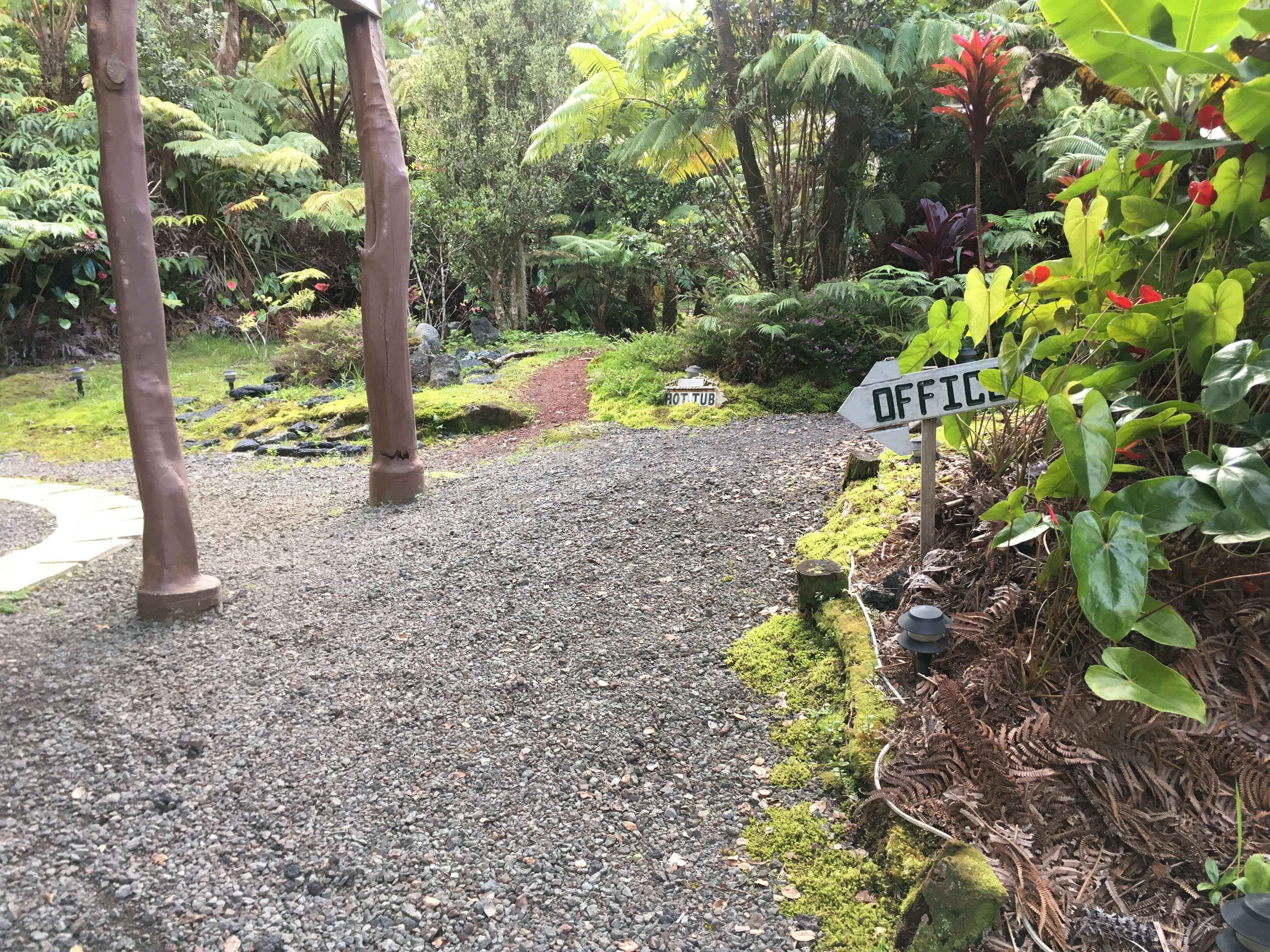 volcano hotel - volcano inn - office path