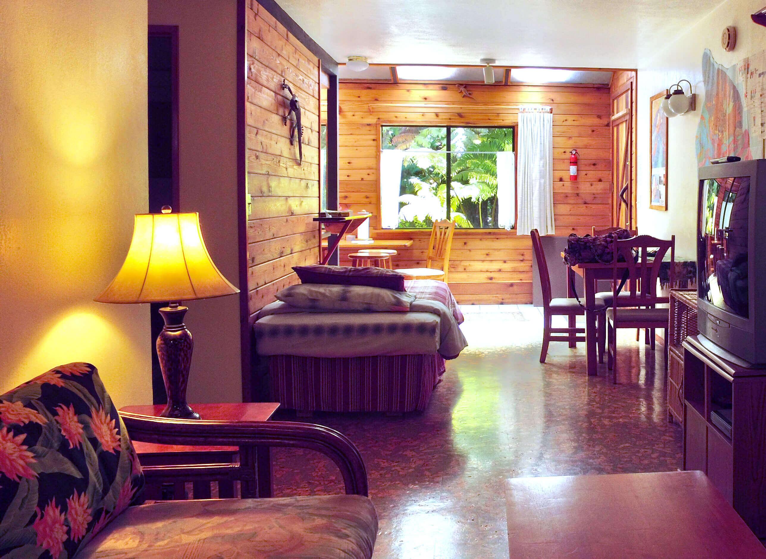 Volcano Hawaii hotel - volcano inn - gecko 2