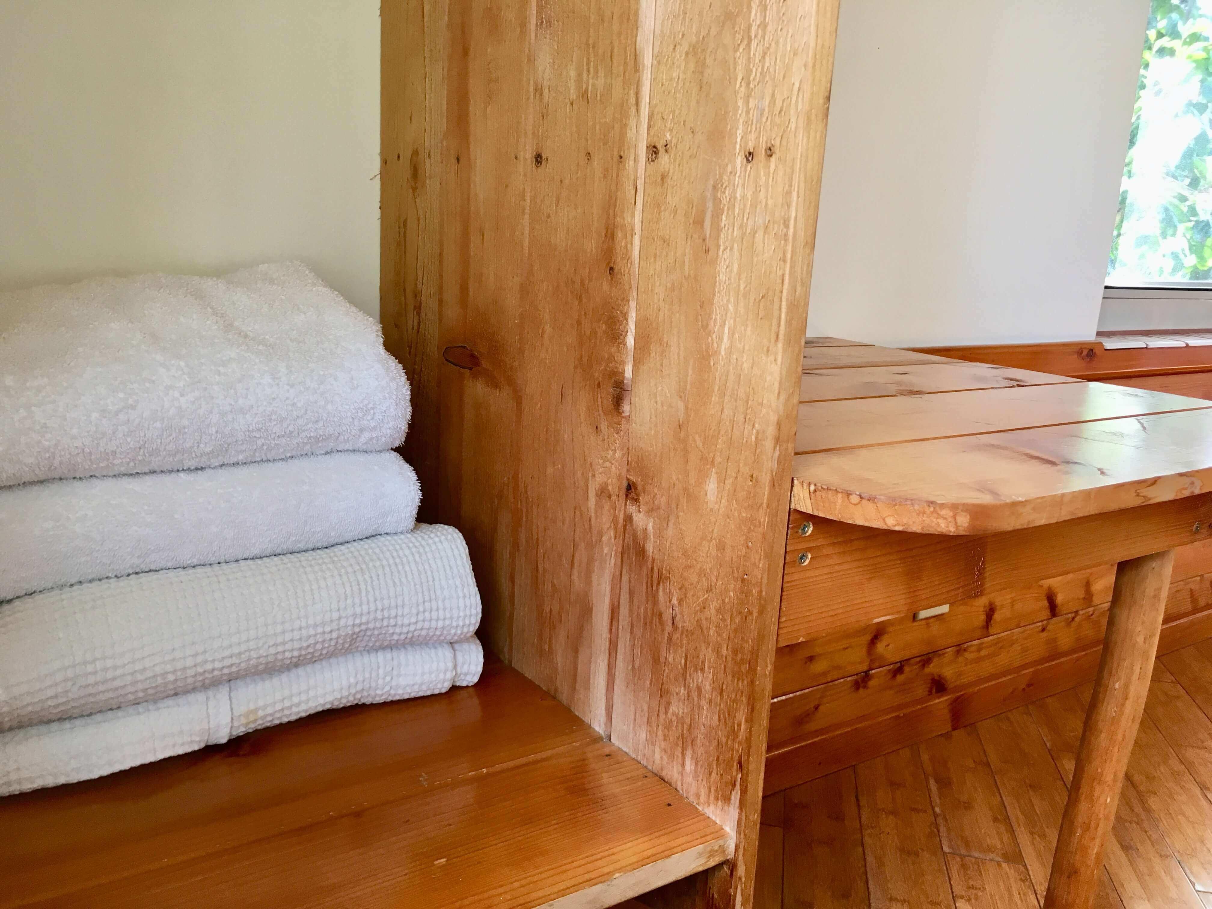 volcano lodge- volcano inn - towel