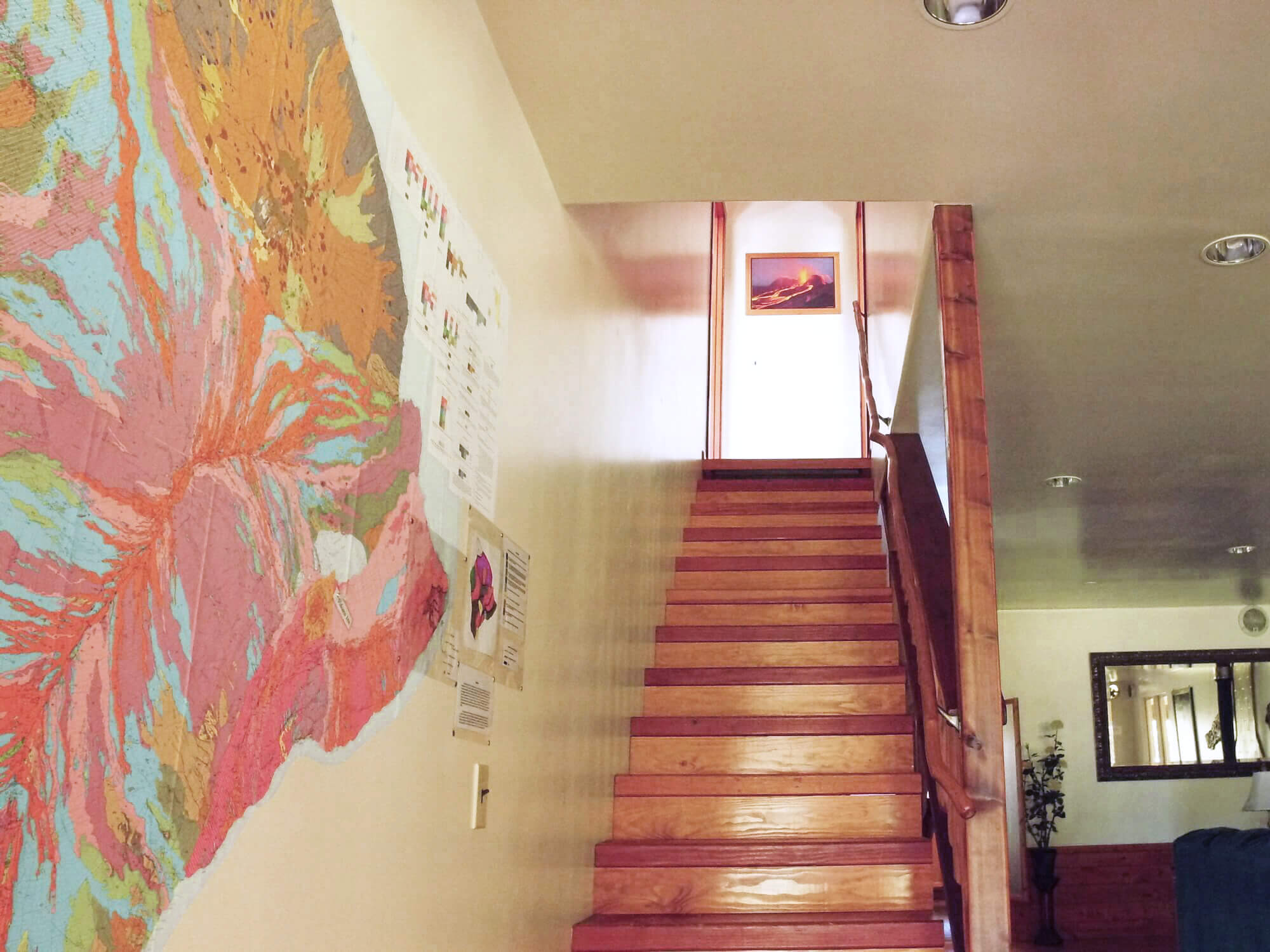Kilauea hotel-volcano inn-stairs to room